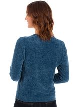Long Sleeve Chenille Top Kingfisher - Gallery Image 2