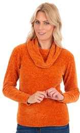 Cowl Neck Chenille Knit Top