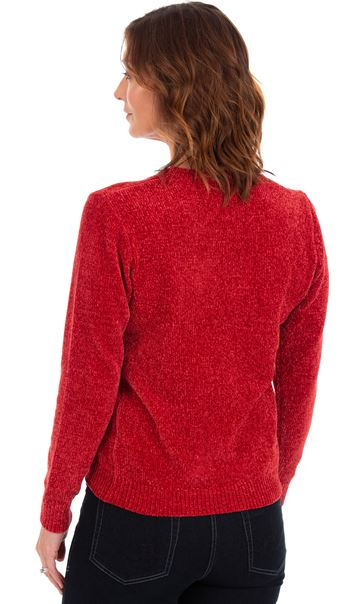 Long Sleeve Chenille Top Ruby - Gallery Image 2