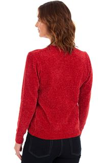 Long Sleeve Chenille Top - Ruby