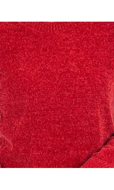 Long Sleeve Chenille Top Ruby - Gallery Image 3