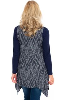Layered Long Sleeve Dip Hem Tunic