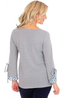 Printed Cuff Knit Top