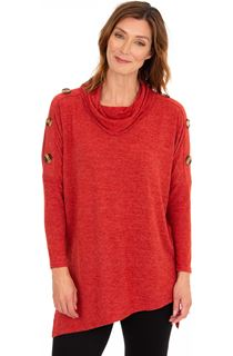 Cowl Neck Oversized Knit Tunic