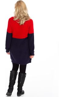 Colour Block Knitted Tunic