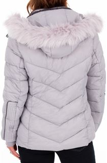 Anna Rose Faux Fur Trimmed Quilted Coat