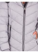 Anna Rose Faux Fur Trimmed Quilted Coat Grey - Gallery Image 4