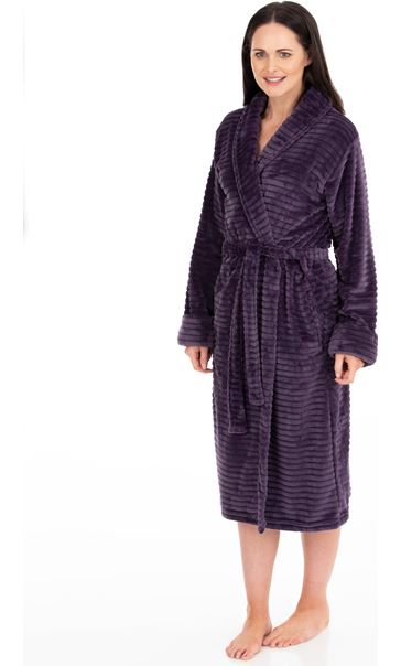 Stripe Dressing Gown Lavender