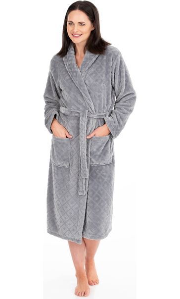 Diamond Dressing Gown Grey