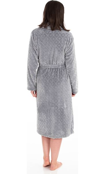 Diamond Dressing Gown Grey - Gallery Image 2