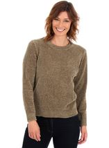 Long Sleeve Chenille Top Olive - Gallery Image 1