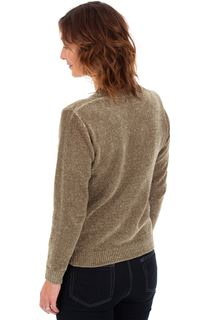 Long Sleeve Chenille Top - Olive