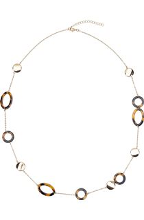 Tortoise Shell and Gold Coloured Bead Necklace