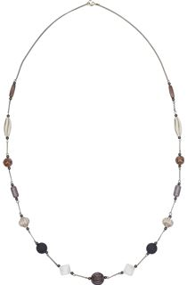 Delicate Chain and Bead Necklace