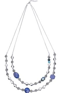 Double Layered Beaded Necklace - Multi