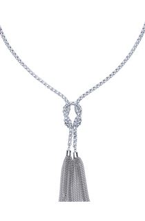 Chunky Knotted Tassel Necklace
