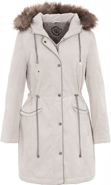 Anna Rose Cord Parka Stone - Gallery Image 3