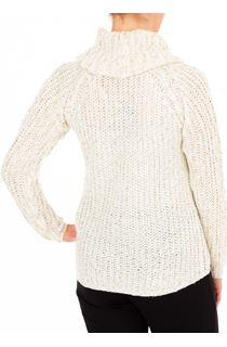 Anna Rose Shimmer Cowl Neck Knit Top