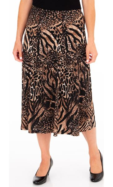 Anna rose Pull On Midi Skirt