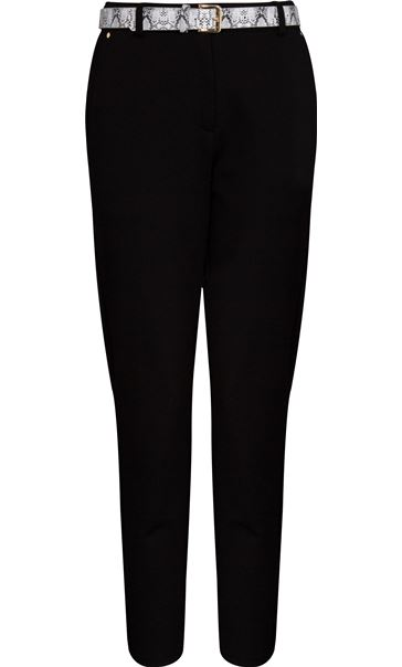 Anna Rose Tapered Leg Belted Trousers Black - Gallery Image 3
