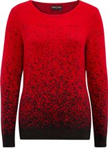 Anna Rose Long Sleeve Sparkle Knit Top Red/Black - Gallery Image 3