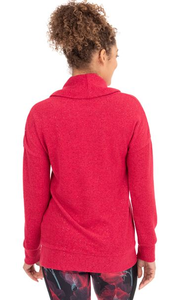Cowl Neck Sports Top Red - Gallery Image 2
