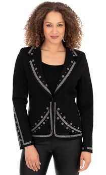 Embellished Button Jacket