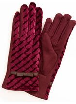 Anna Rose Diamond Velour Top Gloves