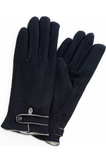 Anna Rose Faux Fur Lined Wool Blend Gloves - Blue