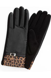 Faux Leather Top Gloves