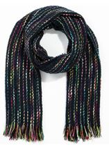 Multi Coloured Stripe Scarf
