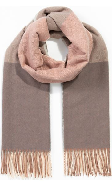 Colour Block Scarf Pink