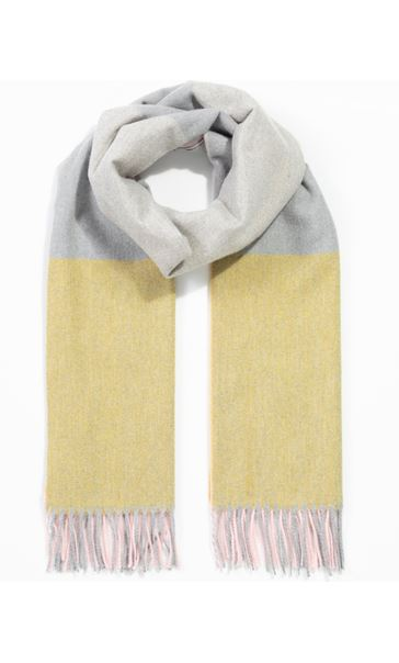 Colour Block Scarf - Pink/Grey