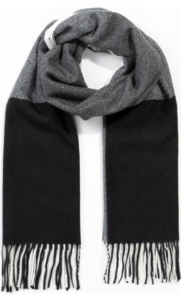 Colour Block Scarf Grey/Black