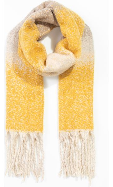 Ombre Tassel Scarf Yellow