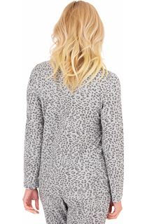 Long Sleeve Animal Print Sleepwear Top