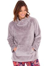Textured Fleece Lounge Top