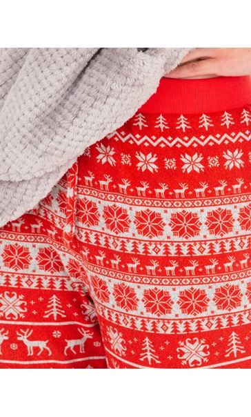 Festive Pyjama Bottoms Red/White - Gallery Image 3