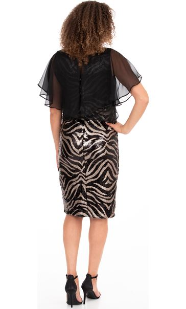 Tiger Sequined Dress Black/Gold - Gallery Image 2