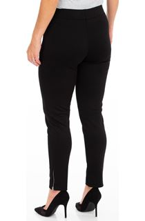 Textured Panelled Treggings - Black