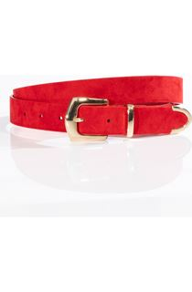 Faux Suede Buckle Belt
