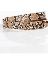 Faux Snake Thin Belt