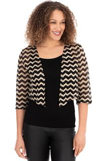 Zig Zag Lace Open Cover Up