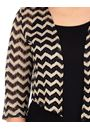 Zig Zag Lace Open Cover Up Black/Gold - Gallery Image 3