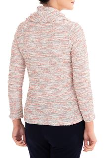 Anna Rose Textured Cowl Neck Knit Top