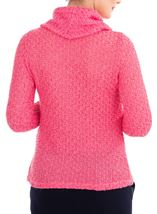 Anna Rose Shimmer Textured Cowl Neck Knit Top Pink - Gallery Image 2