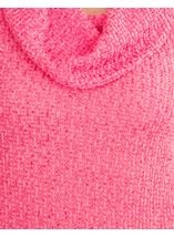 Anna Rose Shimmer Textured Cowl Neck Knit Top Pink - Gallery Image 3