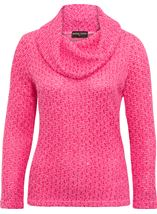 Anna Rose Shimmer Textured Cowl Neck Knit Top Pink - Gallery Image 4