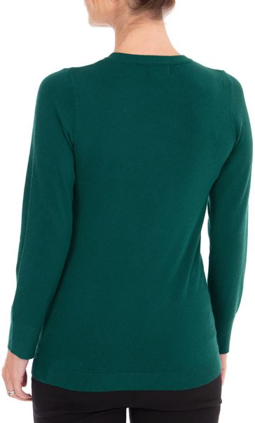 Anna Rose Embellished Long Sleeve Knit Top Emerald - Gallery Image 3