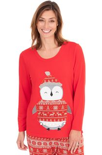 Penguin Long Sleeve Loungewear Top